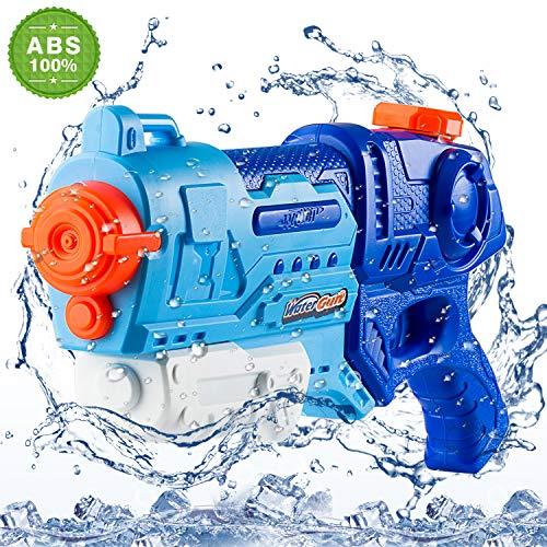 Ulikey Wasserpistole Spielzeug, Wasserspielzeug Schießt bis zu 8M Reichweiter Wassertank 900ML, Geeignet für Sommer Outdoor Partys, Freibad, Garten für Kinder und Erwachsene