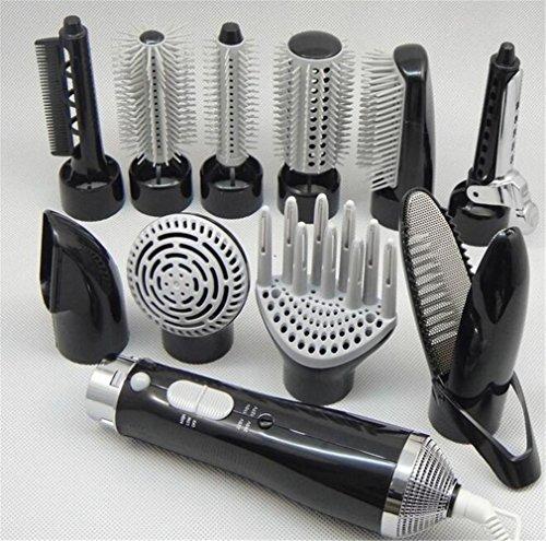 ELEGENCE-Z Sèche-cheveux multifonctions cheveux bigoudis haute puissance kit de coiffure styling peut être cheveux raides ne pas blesser , black
