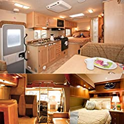Ba15s 12V AC/DC LED Luci 1156 1141 5W S8 Lampada P21W, Bianco caldo 3000K, 35W Sostituzione per Lampadina Alogena, per lampadina faro per auto e camper RV, barche, Luce paesaggio(4-Pack)