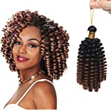 "6""/15CM Crochet Braids Wand Curls Crochet Braid Twist Extension Cheveux Effet Naturel au Toucher & Visuel"