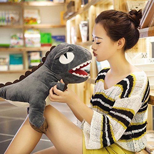 WYQLZ Dessin animé Dinosaure Hold Oreiller Coussin Lovely Coussin coréen étudiant Nap oreiller ( Couleur : Gris , taille : 75cm )