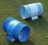 """Callieway® Hoopers Agility Tunnel Set """"Profi""""– ORIG Tunnelset für JAD (2 Stk.) für Hoopers & JAD Hundesport (80cm, Blau/Aquamarine)"""