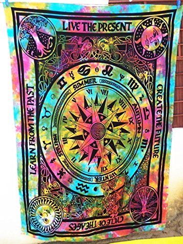 Future Handmade Tapiz de pared de estilo hippie del ciclo de la vida,