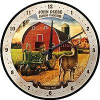 Nostalgic Art 51066John Deere Farming Traditions, Orologio da parete, 31cm