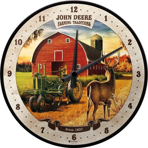 nostalgic-art-51066-john-deere-farming-traditions-orologio-da-parete-31-cm