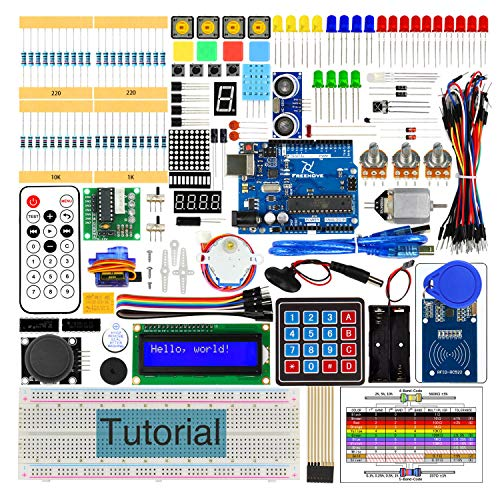 Freenove RFID Starter Kit V2.0 with R3 Board (Compatible with Arduino), 252 Pages Detailed Tutorial, 198 Items, 49 Projects, Solderless Breadboard