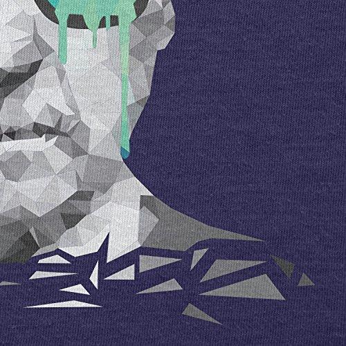 NERDO - Poly Psychedelic Albert - Herren T-Shirt Navy