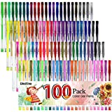 Best Gel Pens For Colorings - Umitive 100 Glitter Gel Pens, Long Lasting, Fine Review