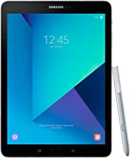 Samsung Galaxy Tab S3 T825 24 ,58 cm (9,68 Zoll) Touchscreen Tablet PC (Quad Core 4GB RAM 32GB eMMC LTE Android 7,0) Silber inkl S Pen