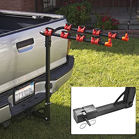 Bike Rack 4 Bicycle Hitch Mount Carrier Car Truck Auto 4 Bikes New by BCP - Bike Hitch Rack