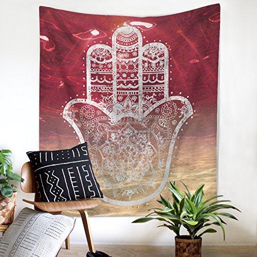 Tapiz de mandala para colgar en la pared, diseño de insignia étnica