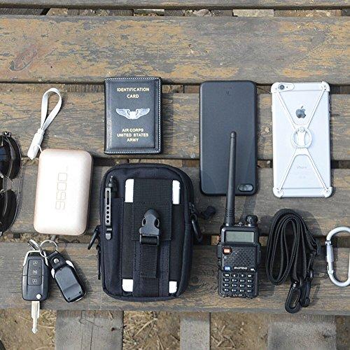 TOAOB Leicht klein Taktische Hüfttaschen Beintasche Mode Multifunktional Handytasche Gürteltasche Ideal für Outdoorsport Multifunktionen Praktische Ausrüstung mit Extrafreiem Aluminiumkarabiner Style 4