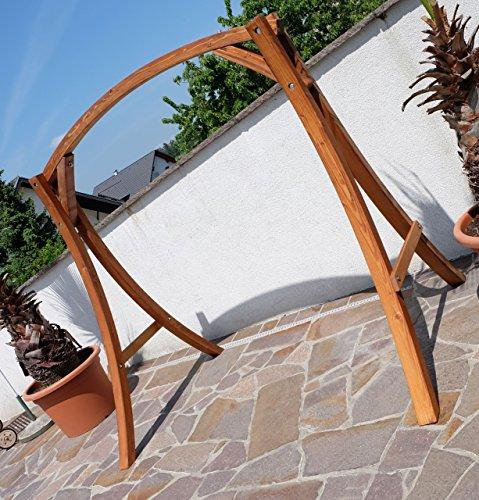 Design Gestell MERU-GESTELL für Hollywoodschaukel aus Holz Lärche ohne Sitz von AS-S