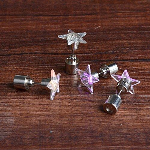 JxucTo - Pendientes de Estrella con Colgante de Mujer y LED, 2...