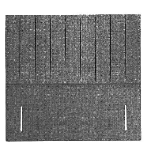 Interiors 2 Suit U Standard Double Linen Fabric Trinidad Upholstered Floor Standing Headboard, 4 ft 6-Inch, Light