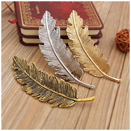 Dosige 2PCS Fashion Metal Leaf Feathers Hair Clip Glitter Headwears Women's Hair Accessory Gold and Silver