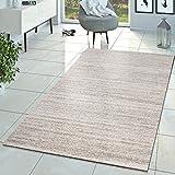 Alfombra moderna Braga, alfombras de pelo corto, de salón, de un color, jaspeado, crema, beige, 160 x 220 cm