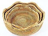 HZTDDA Haushalts Fruchtplatte Wohnzimmer Snacks Candy Korb Creative Desktop Couchtisch Aufbewahrungsbox Geometrische Form Dekoration Handgefertigten Vietnam Rattan Speicher Korb