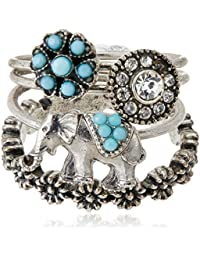 Accessorize Ring for Women (Silver) (MN-19425612003)