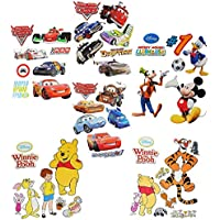 f325b49f13d Unbekannt Wandtattoo/Sticker - Disney Cars - Princess - Minnie Mouse -  Mickey Mouse -