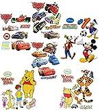 Unbekannt 1 Set: Wandtattoo / Sticker - für Jungen - Disney Cars - Mickey Mouse - Winnie the Pooh - Wandsticker Aufkleber Wandaufkleber für Kinder