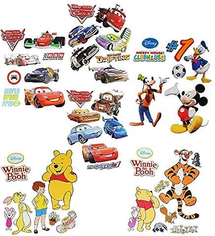 1 Set: Wandtattoo / Sticker - für Jungen - Disney Cars - Mickey Mouse - Winnie the Pooh - Wandsticker Aufkleber Wandaufkleber für