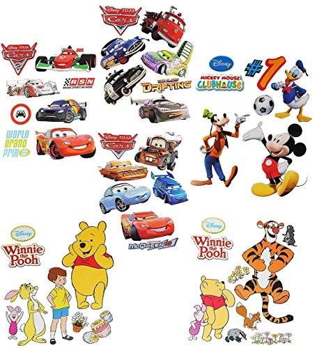 Unbekannt 1 Set: Wandtattoo / Sticker - für Jungen - Disney Cars - Mickey Mouse - Winnie the Pooh - Wandsticker Aufkleber Wandaufkleber für Kinder (Kinder-wand-sticker-cars)