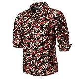 Herren Hemd,Kanpola Männer Casual Slim Printed Shirt Für Anzug, Business, Freizeitlt Hemden