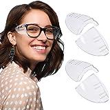 RMENOOR 2 paar brillen, zijbescherming, anti-uv-veiligheidsbril, zijbescherming, transparante zijbescherming, veiligheidsbril