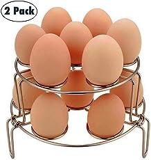 Egg Steamer Rack,WaterLuu Egg cooker Steamer Rack Trivet for Instant Pot and Pressure Cooker,Steam Rack for Instant Pot