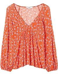 FIND Damen Bluse mit Blumenprint
