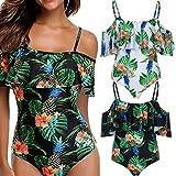 2018 Swimsuit,Ba Zha Women Bikini Sexy Floral One Piece Tankini Ladies Strapless Bandage Monokini Girls Swimming Costume Leisure Swimdress Bathing Beachwear Push up Padded Swimwear