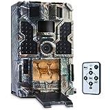 """TOMSHOO Caméra de Chasse 16MP 1080P 30fps Pièges Photographiques avec 48pcs Capteurs Infrarouges LED de 850NM,0.2s de déclenchement,Time Lapse, portée 20m,2.0"""" LCD écran"""