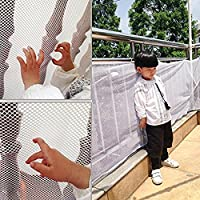 CUEYU Children Safety Net Baby Fall Protection Safety Net Durable Weatherproof Adjustable Balcony/Stair Railing Safety Net for Kids Pet Toy Safety, Indoor and Outdoor Stairs Balcony or Patios