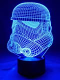 Originelle 3D LED-Lampe Stormtrooper