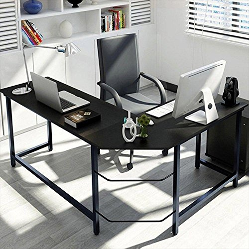 NELNISSA L-förmige Computer-Schreibtisch HOME OFFICE Möbel Ecke Student Studie Holz Lapt - L-förmige Home-office