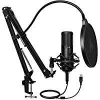 Maono AU-PM420 USB Podcast Condenser Microphone, Computer Mic with Professional Sound Chipset for Gaming, Streaming…