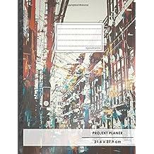 """Projektplaner: DIN A4 • 70+ Seiten, Softcover, Register, """"City Art"""" • #GoodMemos • Linke Seite für Planung (To Do Listen, Datum uvm.); Rechte Seite für Notizen"""