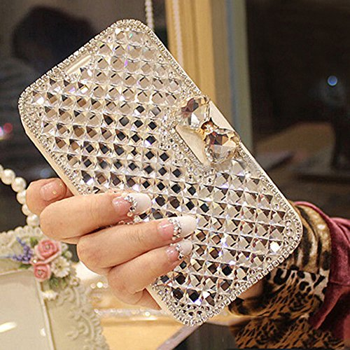 Portefeuille de Luxe Bling Strass Cristal Diamant scase en imitation cuir pour Samsung galaxy3 S4 S5 iPhone 4/4S/5/5S/6/6 Plus, Cuir synthétique, for iPhone 4s/4