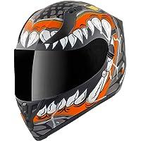 Bogotto V128 Naga Casco Nero opaco/Arancione