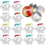 Ziyero 12 stuks vorm voor ronde Jumbo ijsblokjes ronde ijsbal vorm ijsballen 3D ijsbal kubus mal set voor whisky, cocktail, s