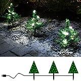 3x Mini-Weihnachtsbaum Tanne mit LED beleuchtet außen Deko Blumenkasten Weihnachten von Gartenpirat®