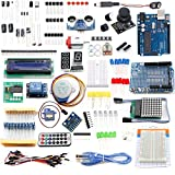 Lommer Entwicklerboard Starter Kit Elektronik Steckbrett Set Breadboard für Arduino mit UNO R3 Board und Widerstände