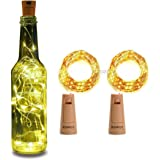 XERGY Bottle Lights Battery Powered, Cork Shaped Fairy String Starry DIY, Party, Decor(Pack of 2) (20LED, 2 Meters…