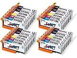 Start – 24 XL Ersatz Chip Patronen kompatibel zu Canon PGI-550BK XL Schwarz, CLI-551BK XL Foto-Schwarz, CLI-551C XL Cyan, CLI-551M XL Magenta, CLI-551Y XL Gelb, CLI-551GY XL Grau für Canon Pixma iP8750, MG6350, MG6450, MG7150