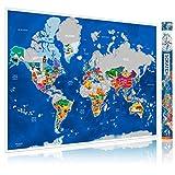 ENFY Weltkarte zum Freirubbeln - große Rubbel Landkarte in handgefertigtem künstlerischen Design – XXL Poster mit Karte von allen europäischen Ländern, US Staaten - Scratcher, 3M Aufkleber enthalten