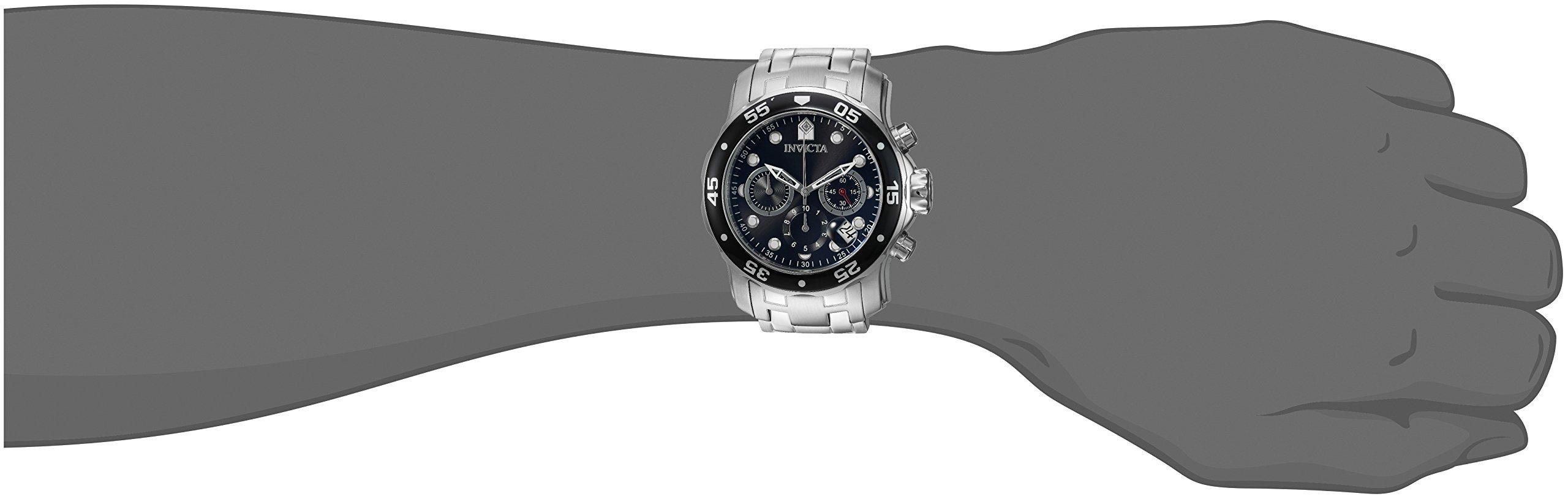 Invicta Pro Diver – Scuba Men's Wrist Watch Stainless Steel Quartz Black Dial – 0069