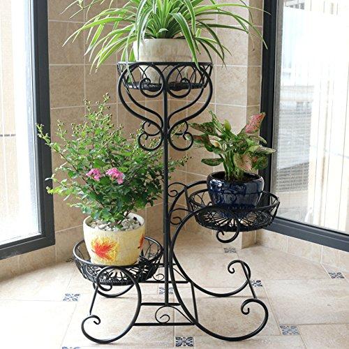 KELE Multicouche Style européen Étagère à Fleurs, Balcon Indoor Stand de Pot de Fleur Tablettes escalier Planter Le présentoir-C