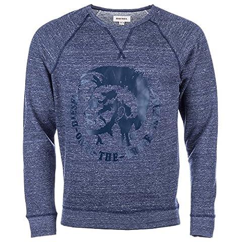 Mens Diesel Mens Slaae-R Crew Sweatshirt in Blue - XS
