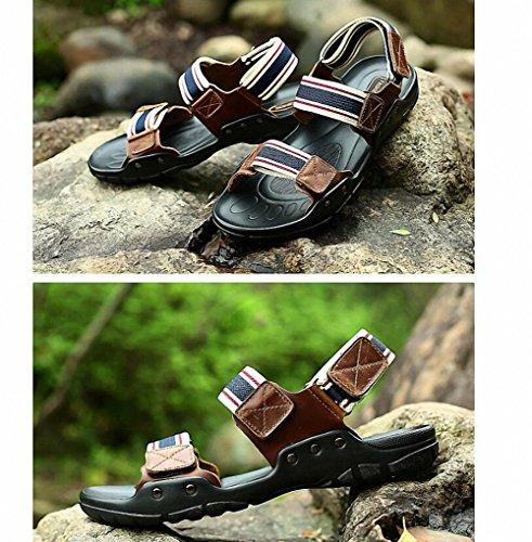 sandali in pelle traspirante uomini di estate sandali sandali 2017 sandali degli uomini di cuoio e pantofole bba895 black